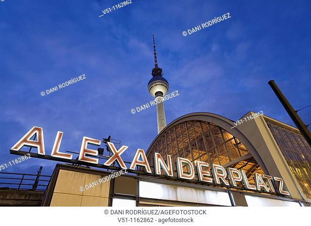 Berlin, Alexander Platz, TV Tower