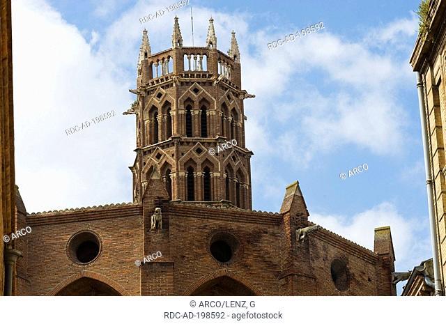 Church Eglise de Jacobins, Toulouse, Midi-Pyrenees, France