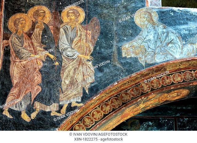 Mural painting 14th century, Church in Zarzma Monastery of Transfiguration, Samtskhe-Javakheti, Georgia
