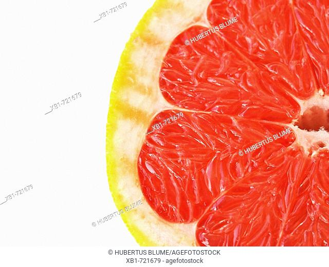 Detail photo of a half Grapefruit