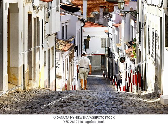 Europe, Portugal, Algarve, Western Algarve, Lagos, walking up and down in charming old town