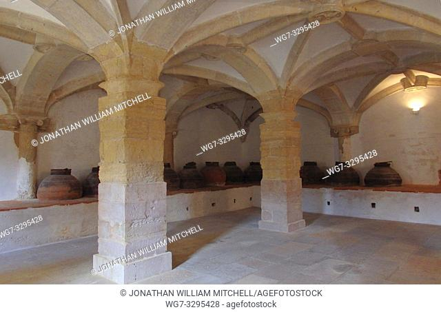 PORTUGAL Tomar -- 2015 -- The former olive oil storage room of the Count of Tomar (the last owner of the building before it became state-owned) inside the...