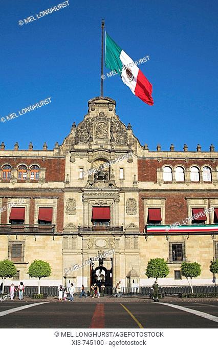 Palacio Nacional, Presidential Palace, Zocalo, Plaza de la Constitucion, Mexico City, Mexico