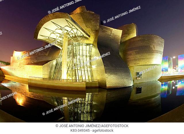 Guggenheim Museum by Frank O. Gehry. Bilbao, Biscay. Euskadi, Spain