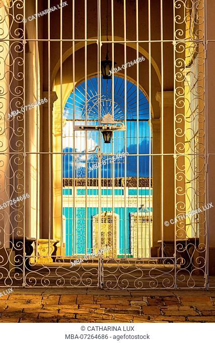 Cuba, Trinidad, UNESCO World Heritage Site, portal of the Trinity Church