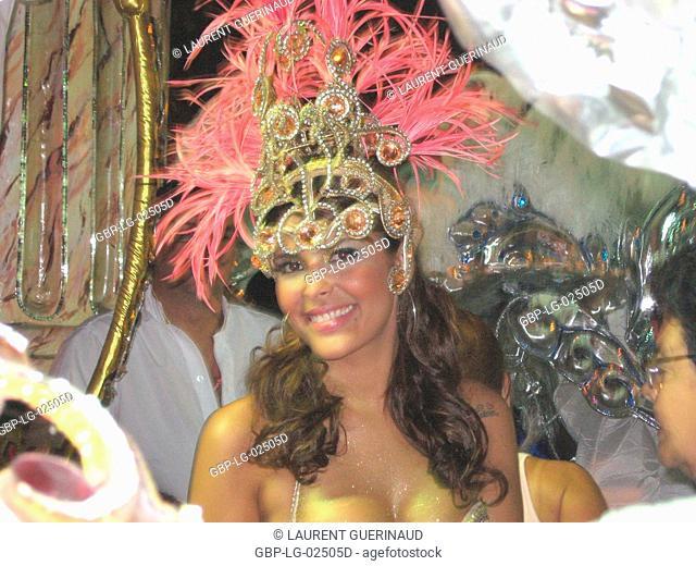 Concentration of the School of Samba Grande Rio, Carnival 2009, Rio de Janeiro, Brazil
