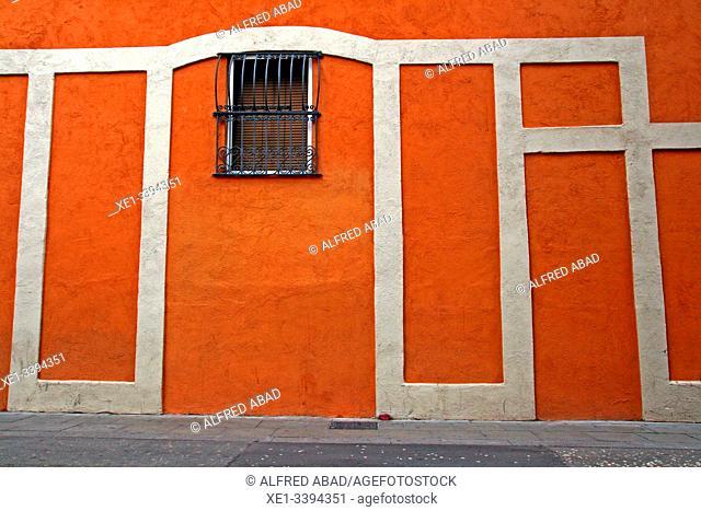 wall and window, Gracia district, Barcelona, ??Catalonia, Spain