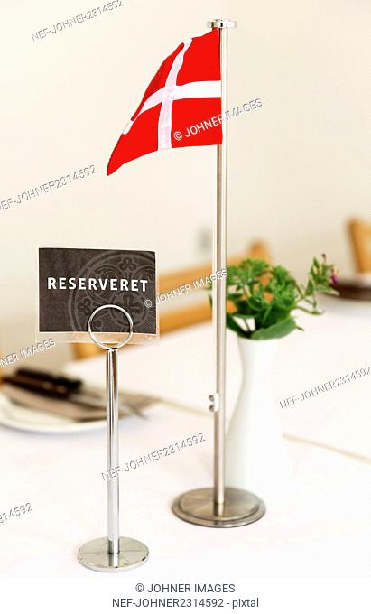 Reserved sign on table