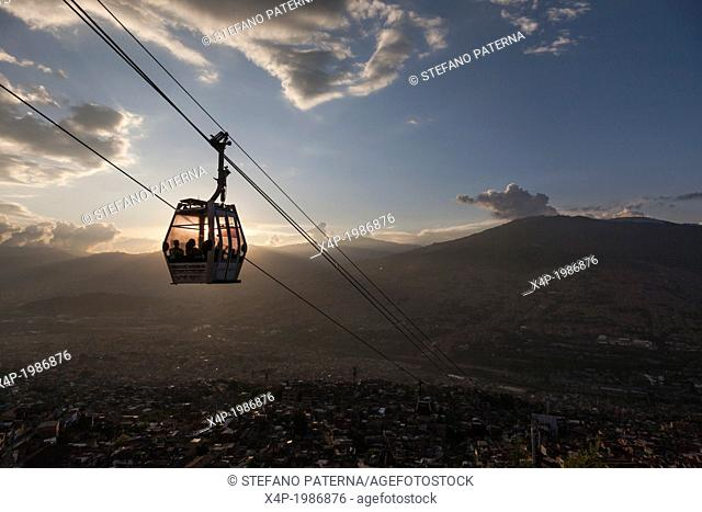 Metro Cable, View over Medellin, Colombia