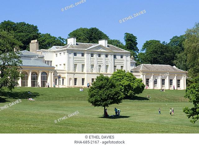 Kenwood House remodeled by Robert Adam in the late 18th century, now housing the Iveagh Bequest, an art collection including Rembrandt, Vermeer and Turner