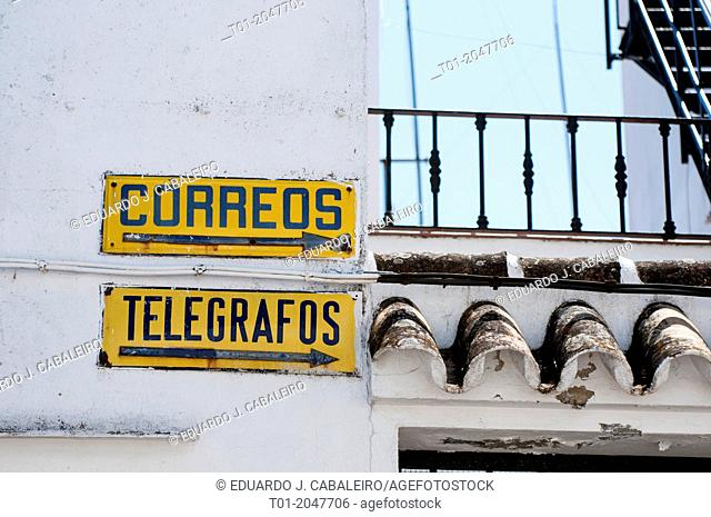 antique plates in town of Seville