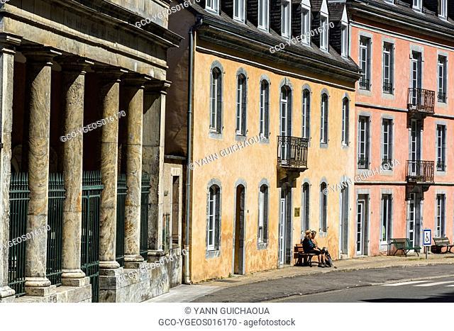 Thermae building at Saint Sauveur, Hautes Pyrenees, France