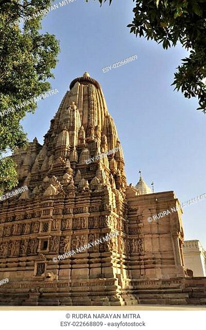 Eestern Temples of Khajuraho, Madya Pradesh, India. Khajuraho is an UNESCO world heritage site