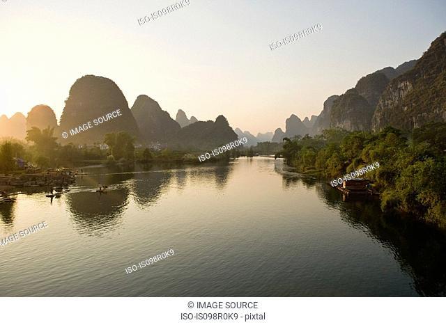 Yulong river and karst landscape