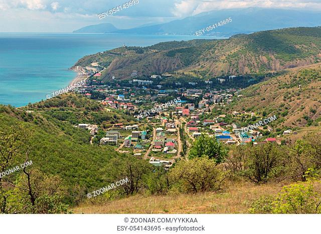 Coast of the Black Sea of the Crimean Peninsula