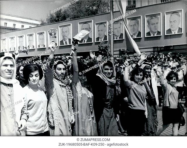 May 05, 1968 - May-Day Demonstration in Sofia: The foreign students,studying in Sofia,demonstrating (Credit Image: © Keystone Press Agency/Keystone USA via...