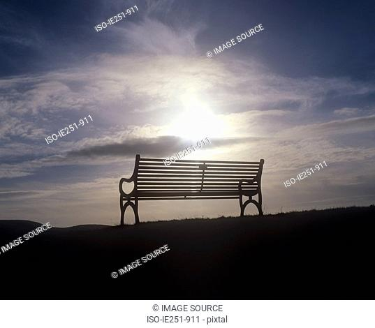 Bench and sunlight