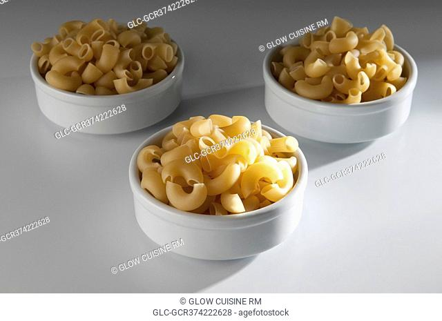 Close-up of macaroni in bowls
