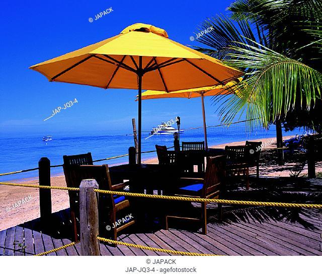 Sun deck on beach