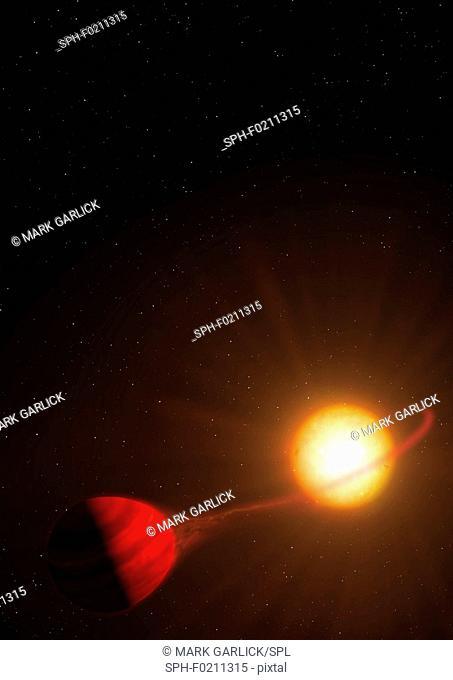 Hot Jupiter WASP-12b, illustration