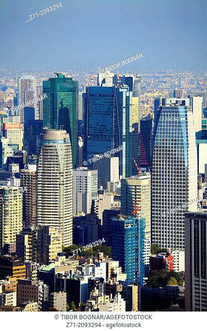 Japan, Tokyo, skyline, general aerial view,
