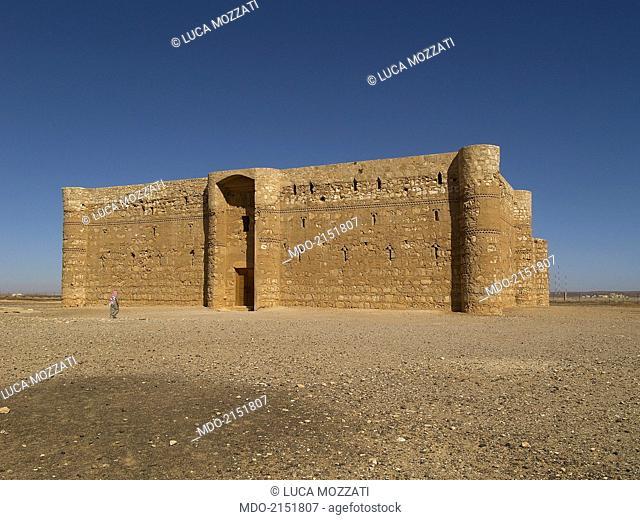 Castle of al-Kharana (Qasr al-Kharana), 705-710 A.D., 8th Century A.D., stone building. Jordan, Amman. Whole artwork view