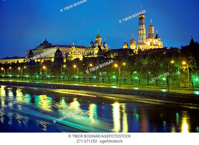 Moskva River. Cathedrals. Kremlin. Moscow. Russia