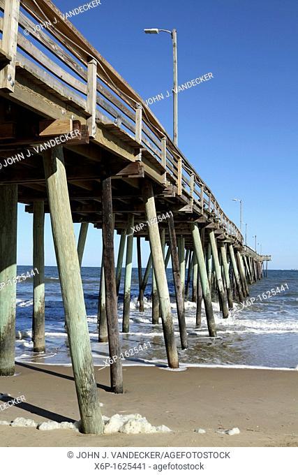 A fishing pier jutting out into the Atlantic Ocean  Virginia Beach, VA  USA