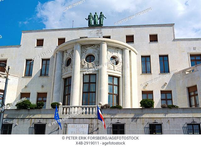 Ambassade de France, the French embassy, Belgrade, Serbia