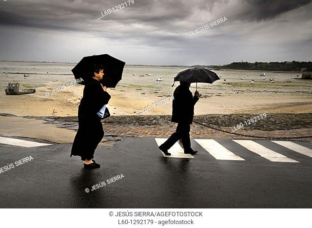 rain in Cancale, Brittany France