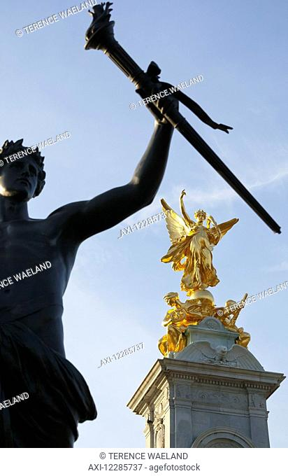 Queen Victoria Memorial outside Buckingham Palace; London, England