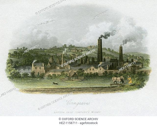 British Iron Company's Works at Corngraves, near Halesowen, West Midlands, c1835. Corngraves, or Corngreaves, lies 7 miles south-west of Birmingham and 5 miles...