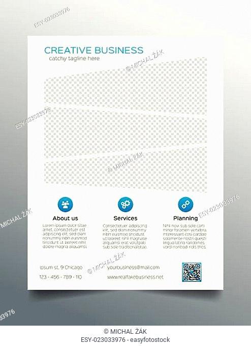 Business flyer template - sleek corporate design