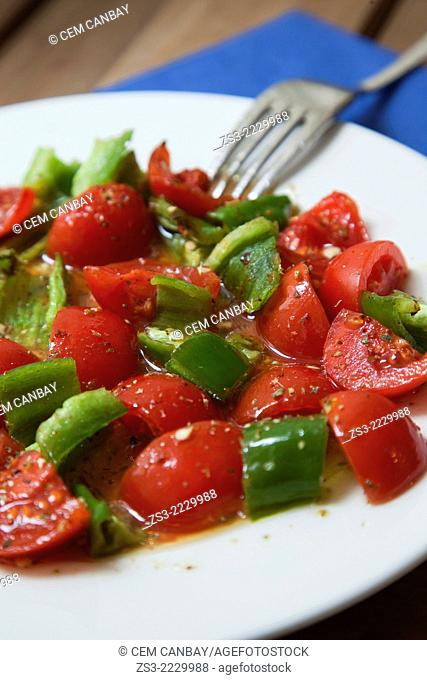 Still-life photo of mix salad in a restaurant, Taksim, Istanbul, Marmara Province, Turkey, Europe