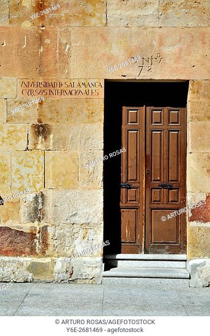 Door of International Courses in the University of Salamanca