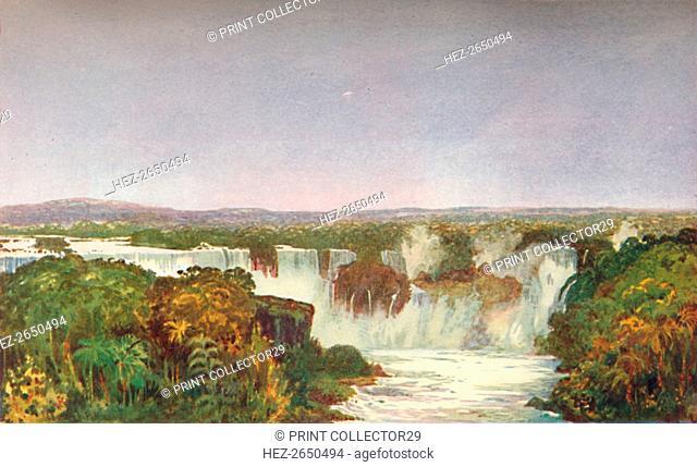 'Partial View of the Falls of Iguassu', 1914. Artist: Unknown