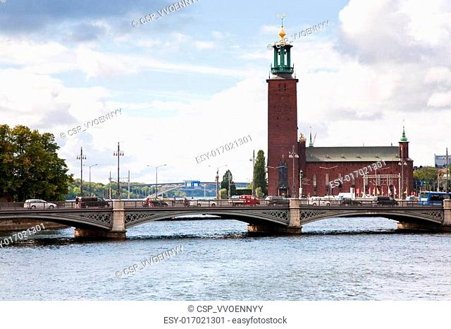 view on Stockholm City Hall, Sweden