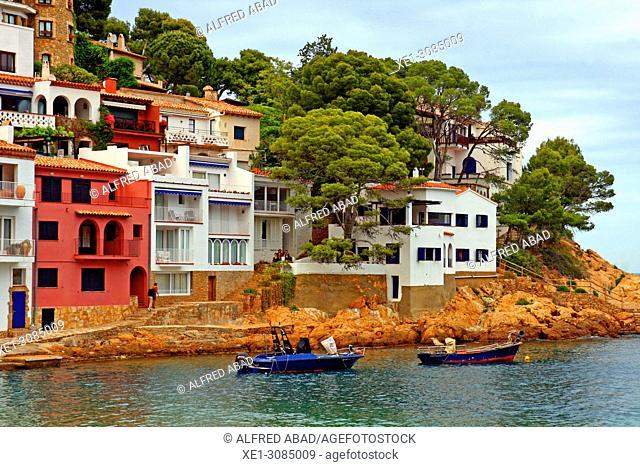 boats, Sa Tuna, Begur, Girona, Catalonia, Spain