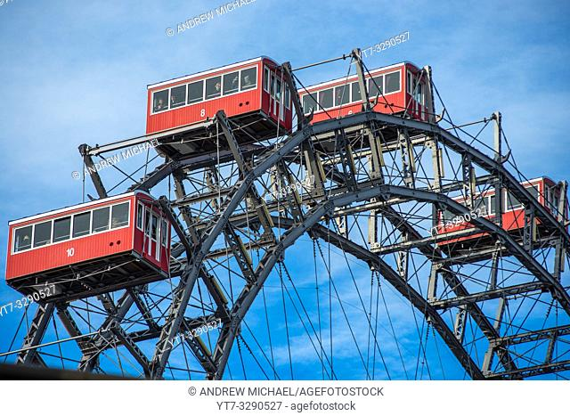 Giant Ferris Wheel at Prater Amusement park, Vienna, Austria