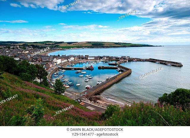 Stonehaven Harbour from Braehead, Aberdeenshire, Scotland