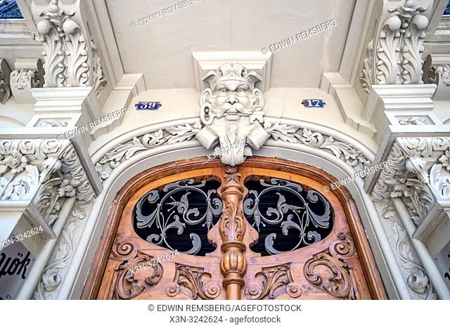 Ivory carved into architecture, ironwork, and wood in Barcelona ,Spain