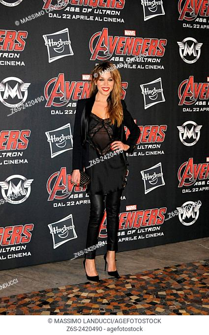vittoria schisano ; schisano; actress ; celebrities; 2015;rome; italy;event; red carpet ; avengers, age of ultron