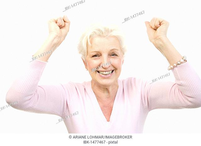 Woman, 60, cheering