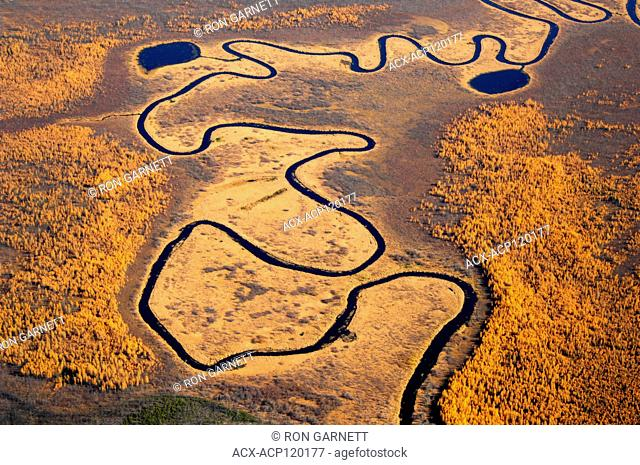 aerial, Canoe River, west of Ile-a-la-Crosse, Saskatchewan
