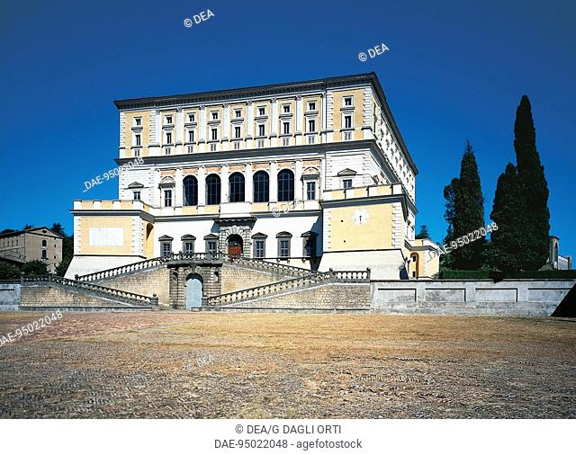 Palazzo Farnese at Caprarola, by the architect Jacopo Barozzi da Vignola, known as Il Vignola (1507-1573). Italy, 16th century