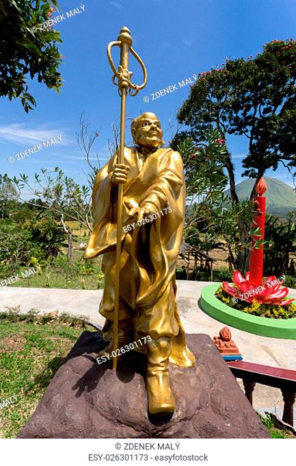buddhistic fat monk statue in complex Pagoda Ekayana, north Sulawesi, Indonesia