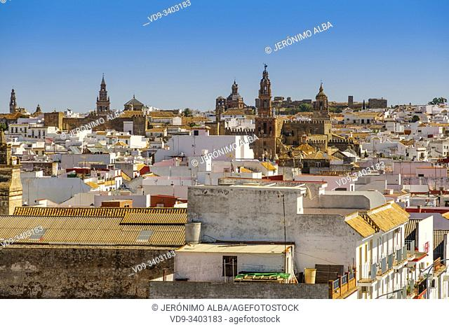 Panoramic view of Carmona. Sevilla province. Southern Andalusia, Spain. Europe