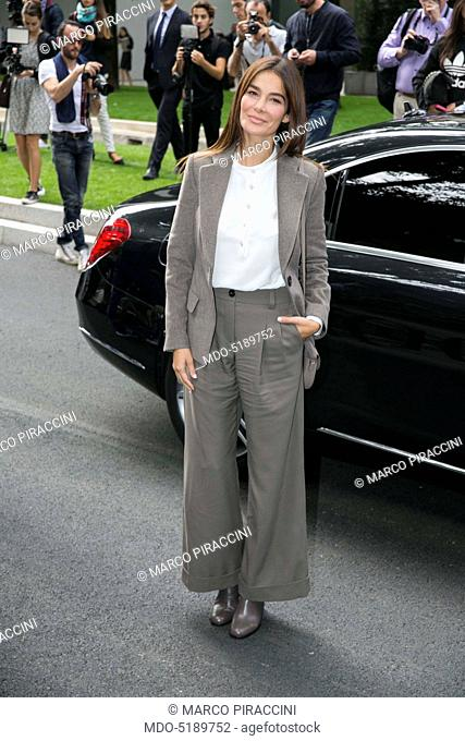 Actress and TV host Ilaria Spada during the Milano Fashion Week (21st-27th September). Milan (Italy), 23rd September 2016