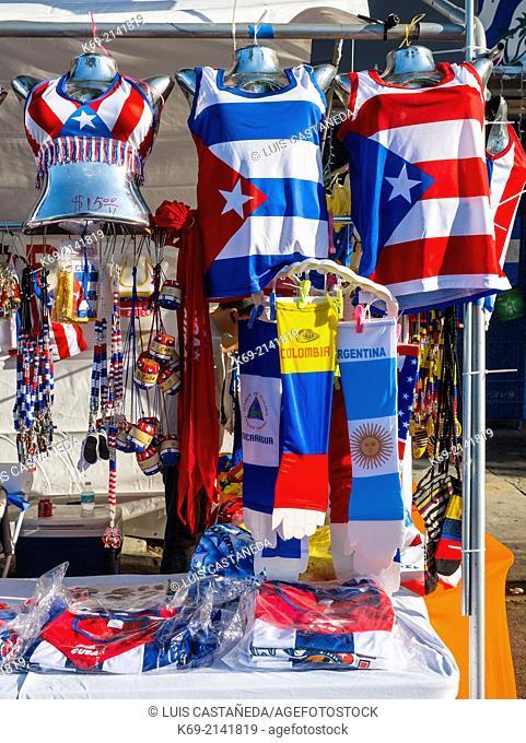 Souvenirs Stand. Carnival Calle Ocho. Miami. Florida. USA