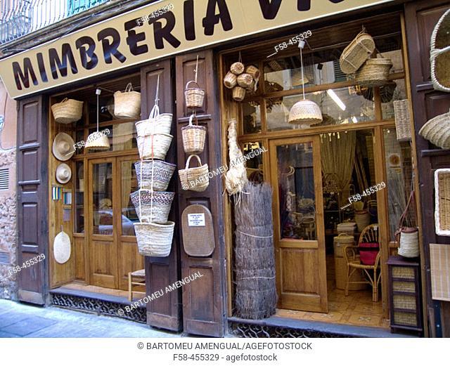 Mimbrería Vidal. Palma de Mallorca. Mallorca. Balearic Islands. Spain